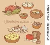 set of illustrations depicting... | Shutterstock .eps vector #248013829