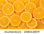 Orange Slices As Background...