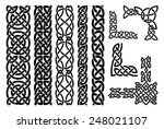 set of celtic patterns and...