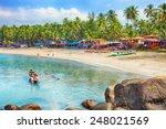 beautiful goa province beach in ... | Shutterstock . vector #248021569