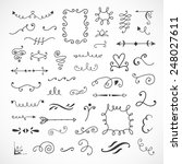 hand drawn curls  florals ...   Shutterstock .eps vector #248027611
