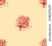 sketch red rose seamless... | Shutterstock .eps vector #248029639