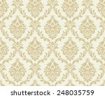 vector seamless damask pattern. ... | Shutterstock .eps vector #248035759