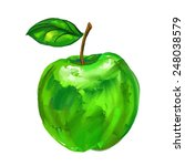 Green Apple Vector Illustratio...