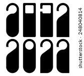 set of blank door hanger. | Shutterstock .eps vector #248040814