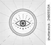 eye contour symbol | Shutterstock .eps vector #248055154
