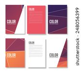 set of abstract flyer geometric ...   Shutterstock .eps vector #248056399