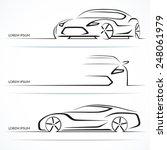 set of modern car silhouettes.... | Shutterstock .eps vector #248061979