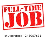 Full Time Job Red Rubber Stamp...