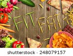 fit or fat | Shutterstock . vector #248079157