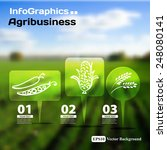 set of infographics with blurry ...   Shutterstock .eps vector #248080141