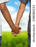 hold hands | Shutterstock . vector #248080231
