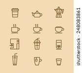 a vector graphic of coffee cup...