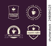 a vector graphic of coffee... | Shutterstock .eps vector #248084125