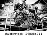 outboard motor in black and... | Shutterstock . vector #248086711