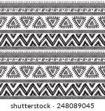 vector tribal striped seamless... | Shutterstock .eps vector #248089045