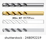 drill bit types  vector set ... | Shutterstock .eps vector #248092219