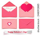 Set Of Four Pink Valentine...