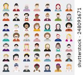 people diversity portrait... | Shutterstock .eps vector #248093671