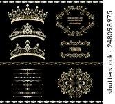 royal design elements  vintage... | Shutterstock . vector #248098975