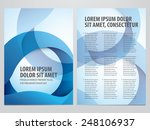 vector business brochure  flyer ... | Shutterstock .eps vector #248106937