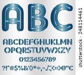 decorative font   metallic blue | Shutterstock .eps vector #248114461