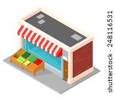 An Isometric Grocery Shop With...