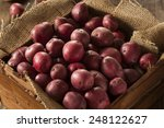 Organic Raw Red Potatoes In A...