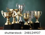 group of the trophies on the...   Shutterstock . vector #248124937
