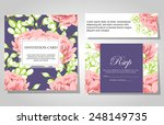 wedding invitation cards with... | Shutterstock .eps vector #248149735