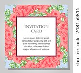 wedding invitation cards with... | Shutterstock .eps vector #248150815