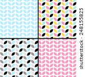 four geometric leaf design....   Shutterstock .eps vector #248155825