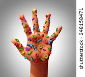 hand germs disease spread and... | Shutterstock . vector #248158471