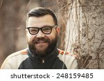 man with beard and glasses...   Shutterstock . vector #248159485