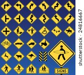 danger road signs collection | Shutterstock .eps vector #24816667