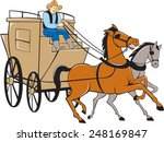 Illustration Of A Stagecoach...