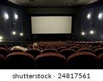 mature couple in empty cinema ... | Shutterstock . vector #24817561