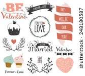 romantic and love illustrations ... | Shutterstock .eps vector #248180587