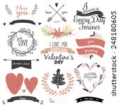 romantic and love illustrations ... | Shutterstock .eps vector #248180605