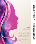 beautiful girl silhouette with... | Shutterstock .eps vector #248181985