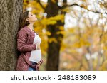 young pregnant woman in the... | Shutterstock . vector #248183089