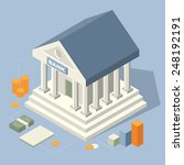 bank building isometric icons | Shutterstock .eps vector #248192191
