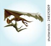 wingless dinosaur monster bird... | Shutterstock .eps vector #248192809