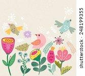 cute vector illustration of... | Shutterstock .eps vector #248199355