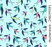 swallow flying seamless pattern ... | Shutterstock .eps vector #248199391