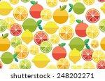 fruits. seamless pattern.... | Shutterstock .eps vector #248202271