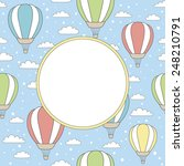 vector card with air balloons ...   Shutterstock .eps vector #248210791
