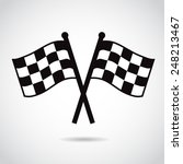 racing flags.  | Shutterstock . vector #248213467