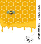 cute smiling bee siting in a... | Shutterstock .eps vector #248218831