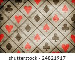 card suite icon on old paper... | Shutterstock . vector #24821917